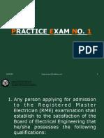 Practice Exam No. 1 2018