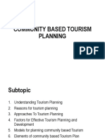 Community based tourism planning