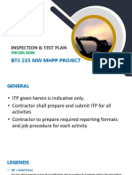 Bt3 2x5mw Mhpp Project-itp for Civil Work