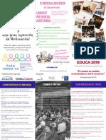 Tríptico Congreso EDUCA 2019