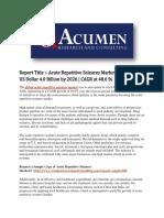 Acute Repetitive Seizures Market