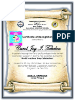 Certificate Teacher