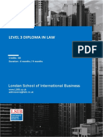 Level 3 Diploma in Law