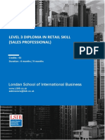 Level 3 Diploma in Retail Skill (Sales Professional)