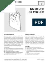 SK 250 UHF Service Manual