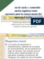 Cobertura de suelo y contenido de materia orgánica