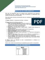 Instruções STM 500 - IsS Complementar