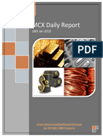 MCX Daily Report