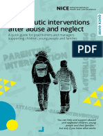 Therapeutic Interventions After Abuse and Neglect Quick Guide