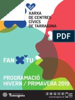 Programació dels Centres Cívics de la campanya Hivern/Primavera 2019