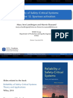 Reliability of Safety-Critical Systems - Spurous activation