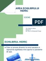 REGLAREA ECHILIBRULUI HIDRIC