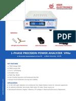 1-Phase Precision Power Analyzer VPAe 2018
