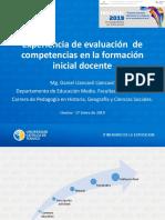 Experiencia de evaluación de competencias