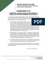 COMUNICADO PNP N° 04  2019