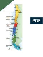 Mapa Norte Grande y Norte Chico