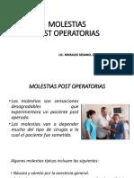 MOLESTIAS Post Operatorias