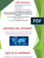 Historia Del Internet TICS