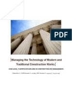 Managing the Technology of Modern and Traditional Construction Works