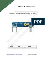 RWS-375!6!433.92MHz ASK RF Receiver Module Data Sheet