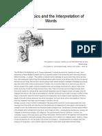 Metaphysics and the Interpretation of Words