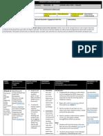 forward planning document week 6