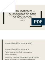 Consolidated FS Subsequent to Date of Acquisition