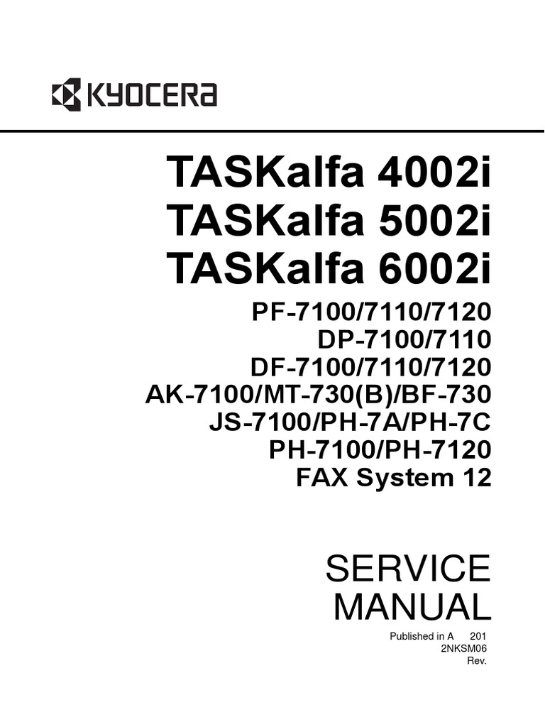 Kyocera TA 4002 Service Manual | Secure Digital | Electrical