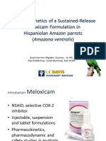 Pharmacokinetics of Meloxicam SR in Amazonian Parrots