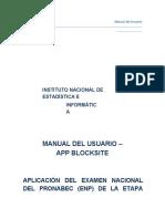 Manual de App Blocksite - Pronabec