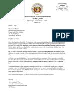 DOR Letter Quade