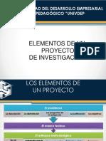 Elementos de Un Proyecto de Investigacion
