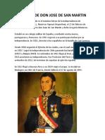 Biografia de Don Jose de San Martin