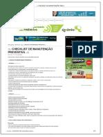 . Checklist de Manutenção Preventiva. - PDF