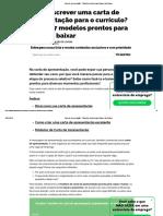Carta de Apresentação - 7 Modelos Incríveis Para Baixar _ Na Prática