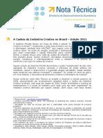 A Cadeia Da Industria Criativa No Brasil Edicao 2011