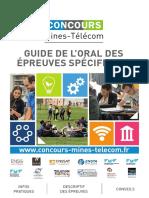 Concours Mines Telecom Guide Epreuves Specifiques BD 2018