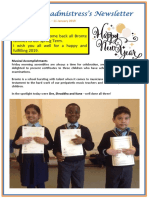 Newsletter No 61 - 11th January 2019