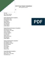 2019 Texas Senate Committees