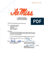 Ole Miss-MTSU Contract Addendum