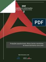 FJP Série Estatística Informações n. 8 - Projeções Populacionais_Minas Gerais e Territórios de Desenvolvimento