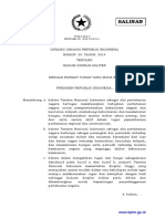Uu 25 2014 Hukum Disiplin Militer