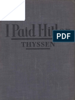 THYSSEN, Fritz - I Paid Hitler-Hodder and Stoughton, Ltd. (1941)