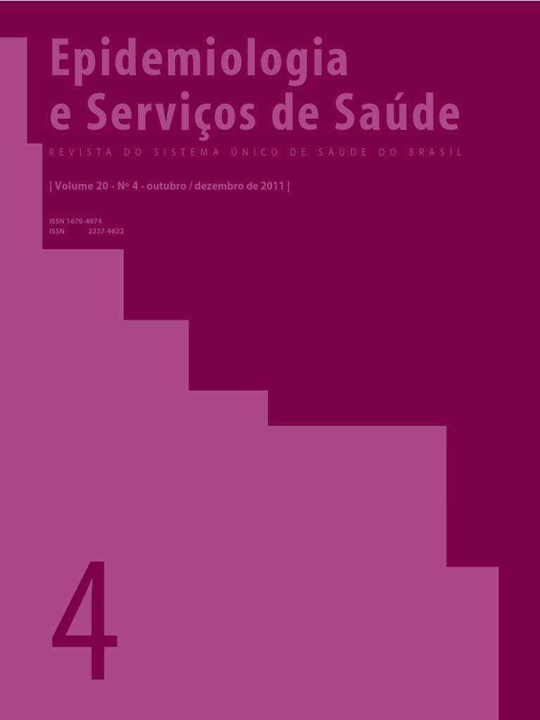 7ea620199 Epidemiologia e Serviços de Saúde: | Volume 20 - Nº 4 - outubro ...