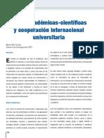 Redes académicas-científicas y cooperación internacional universitaria