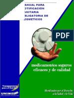 Manual Para Notificacion Sanitaria de Cosmeticos