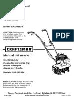 Craftsman Cultivator 536 292524