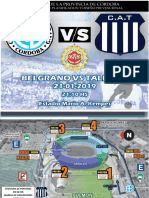 Logística Talleres Belgrano Copa de Verano