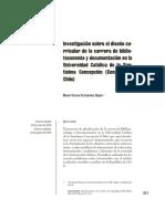 Investigacion Sobre El Diseñocurricular de La Carrarera de Biblioteconomia y Documentacion en La Universidad de Concepción Chile