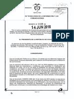 Ley de Gobierno Digital colombia